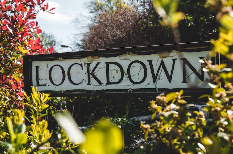 """Bild mit Aufschrift """"Lockdown"""""""